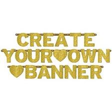 Glittered Gold Letter Banner Kit