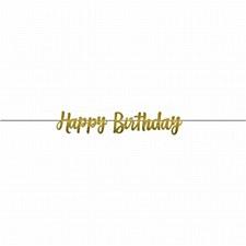 Glitter Gold Birthday Banner