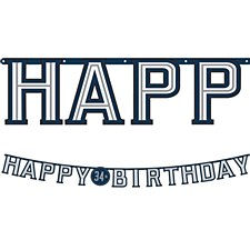Vintage Happy Birthday Banner