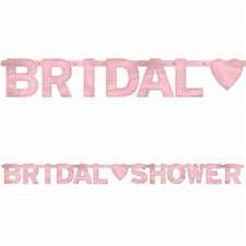 6' Bridal Shower Large Foil Letter Banner