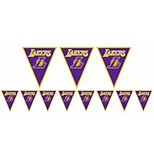 Los Angeles Lakers Pennant Banner