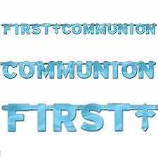 First Communion Large Banner - Foil - Blue