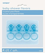 """Blue Crystal Pacifiers 2"""" 4ct"""