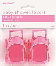 Pink Baby Carriages 2ct