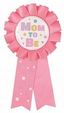 """""""Mom to Be"""" Pink Award Ribbon"""