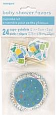 Powder Blue Dots Gift Wrap Roll