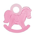 Pink Plastic Rocking Horses 16ct
