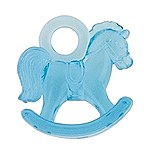 Blue Plastic Rocking Horses 16ct