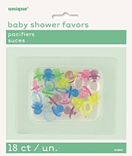 "Crystal Pacifiers 1"" - Assorted Colors 18ct"