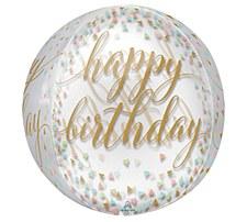 15 in Orbz Happy Birthday Balloon