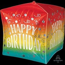 """15""""Birthday Gradient Swirls Cubez"""
