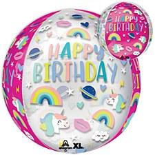 """15""""Birthday Trendy Unicorn Icons"""