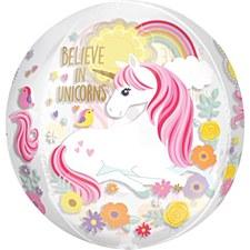 "15""Magical Unicorn Clear Orbz"