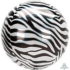 """15""""Zebra Print Orbz"""