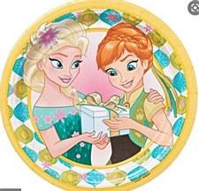 "Frozen Fever 7""Plates"
