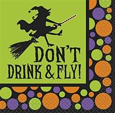 Don't Drink & Fly Bev. Napkins