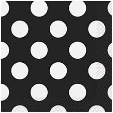 Black Dots Bev. Napkin