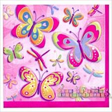 Butterflies & Dragonflies Bev. Napkins