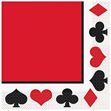Casino Party Lunch Napkins