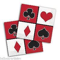 Casino Party Bev Napkin