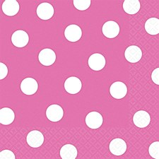 Hot Pink Dots Lunch Napkin