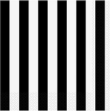 Black Stripe Lunch Napkin