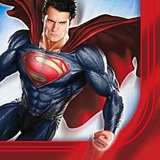 Superman Saves The Day Lunch Napkins