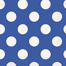 Royal Blue Dots Bev. Napkin