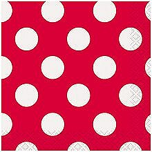 Ruby Red Dot Lunch Napkin