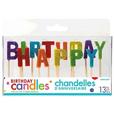 Happy Birthday Glitter Candles