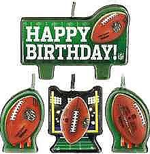 NFL Drive Birthday Candle Set - 4ct