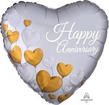 """18""""Anniversary Platium Heart"""