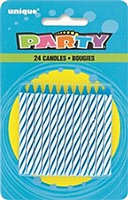 24ct Blue Candles