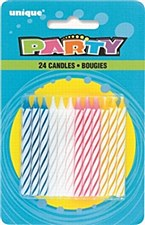 24ct Candles Assorted Colors