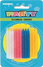 24  Twist Birthday Candles - Mixed