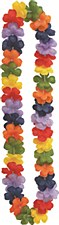 "Rainbow Flower Lei 40"""