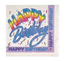Happy Birthday Lunch Napkins 16ct