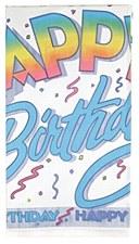 "Happy Birthday Plastic Tablecover 54"" x 84"""