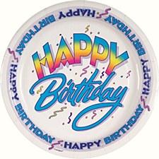"Happy Birthday 7"" Dessert Plates 8ct"