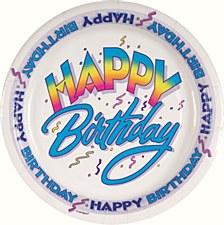 "Happy Birthday 9"" Lunch Plates 8ct"