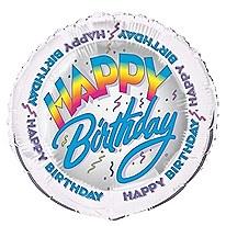 "Happy Birthday 18"" Foil Balloon Bulk"