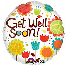 Anagram 20173 Multi-Pattern Get Well Foil Balloon 18 Multicolored