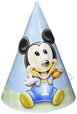 Mickey 1st Birthday Cone Hats - Paper