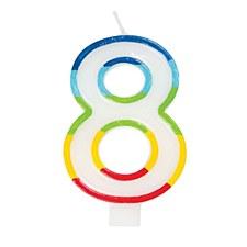 #8 Rainbow Candle
