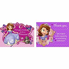 Sofia the First Invitations & Thank You Postcards