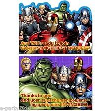 Avengers Invitations & Thank-You Poscards