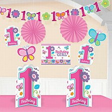 Sweet 1st Birthday Girl Decoration Kit
