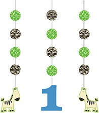 Wild At One Zebra Hanging Cutouts