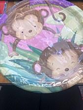 Monkey Safari Plates