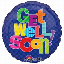 Anagram 19959 Cheery Flowers Get Well Foil Balloon 18 Multicolored